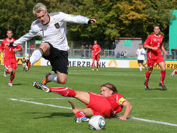 Buchtmann beim Länderspiel gegen die Schweiz