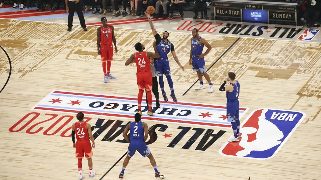 Die besten Spieler der NBA traten im All-Star-Spiel in Chicago gegeneinander an