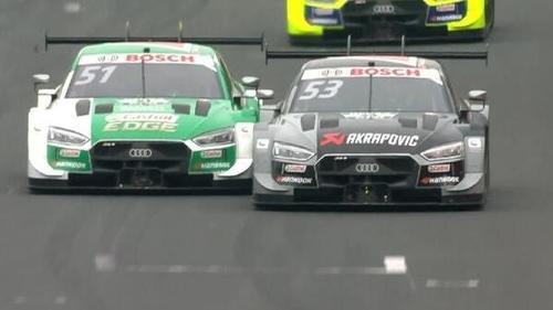 Die Manöver von Rast-Teamkollege Green brachten vor allem Abt-Audi zur Weißglut