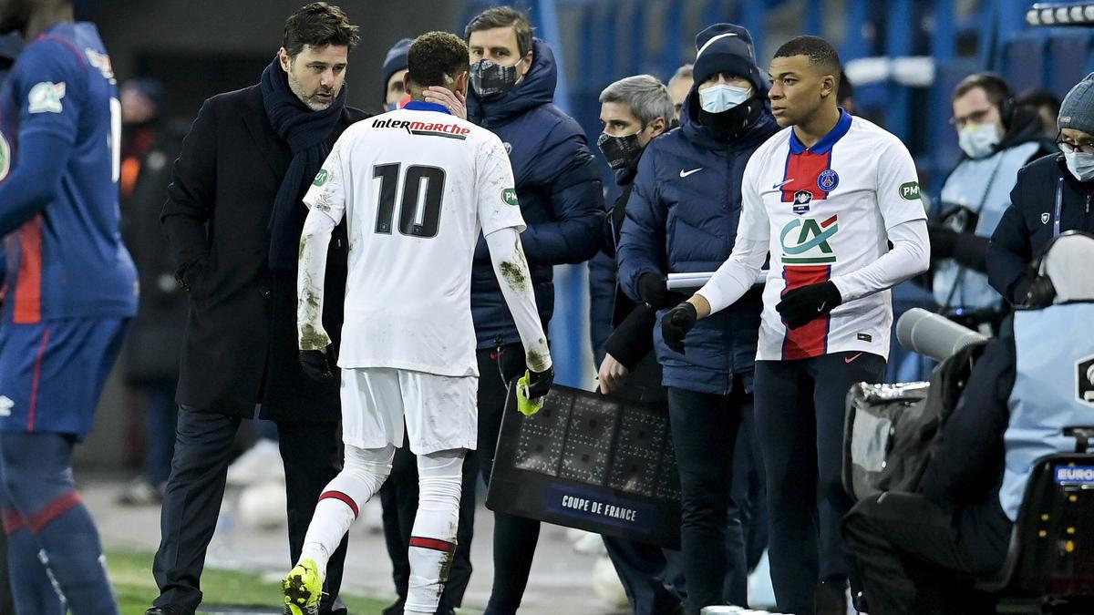 PSG-Superstar Neymar musste verletzt vom Feld