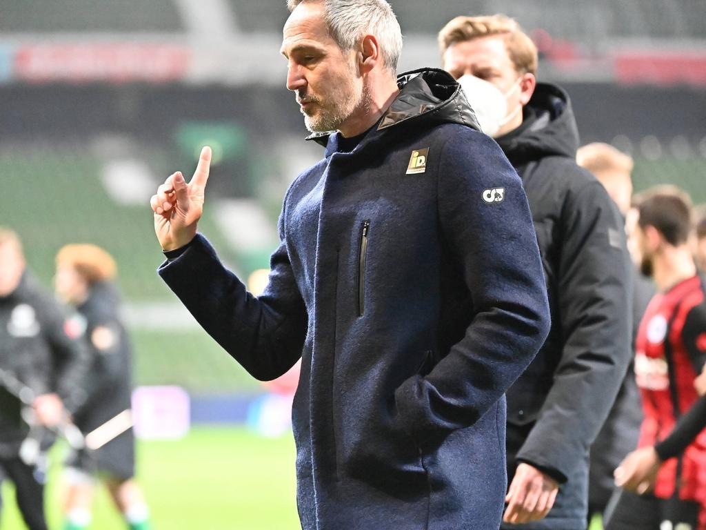 Adi Hütter war nach der Niederlage gegen Bremen