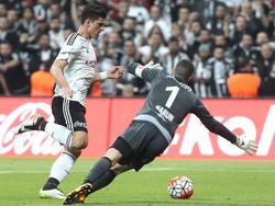 Mario Gomez erzielte das erste Tor in der neu errichteten Vodafone Arena