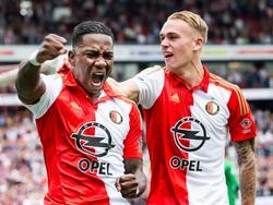 Jubelt für Feyenoord Rotterdam: Eljero Elia (l)