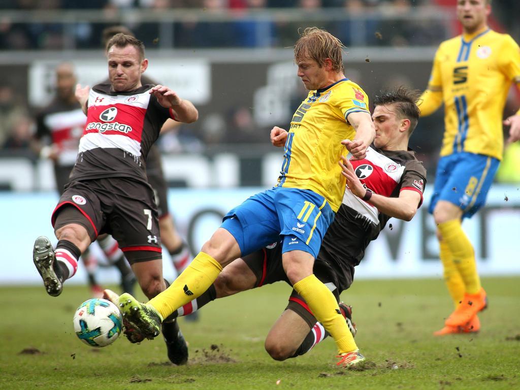 St. Pauli und Eintracht Braunschweig trennten sich unentschieden