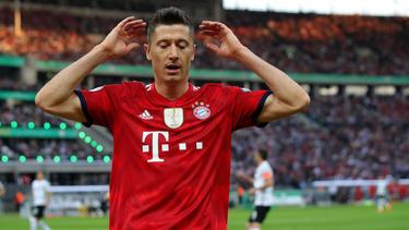 Robert Lewandowski ist in München nicht rundum glücklich