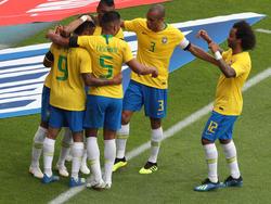 Brasilianischer Jubel im Wiener Happel-Stadion
