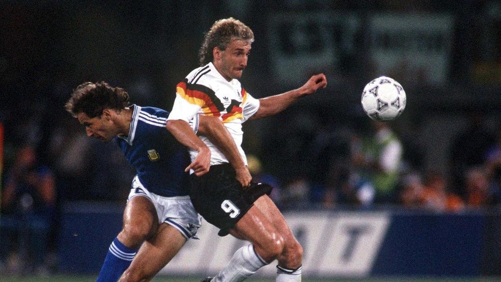 Rudi Völler setzte sich mit Deutschland im Finale durch