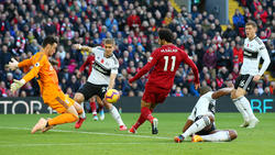 Salah adelantó a los 'Reds' contra el Fulham. (Foto: Getty)