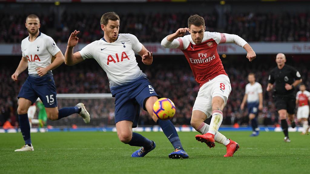 Aaron Ramsey (r.) zeigte zuletzt gegen Tottenham eine starke Leistung