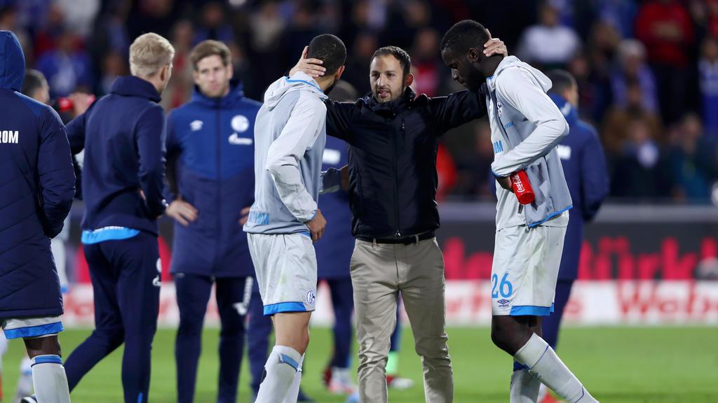 Domenico Tedesco will seine gute Bilanz mit Schalke gegen den BVB aufrecht erhalten
