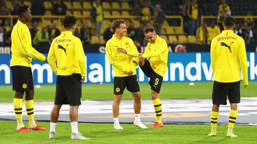 Mario Götze und Paco Alcácer (beide Mitte) trainieren wieder beim BVB
