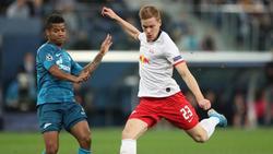 RB Leipzig muss rund zwei Wochen ohne Marcel Halstenberg (r.) auskommen.
