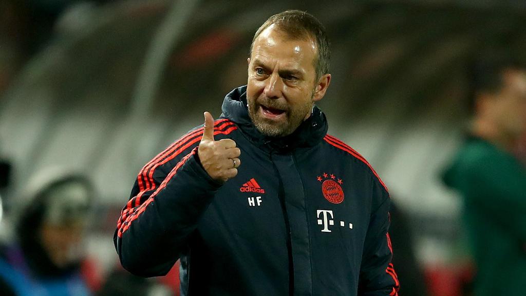 Hansi Flick ist mit einem Routinier des FC Bayern sehr zufrieden