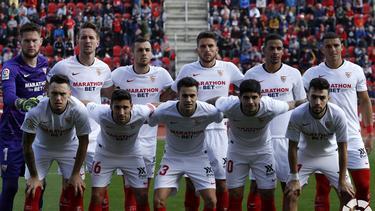 Once del Sevilla ante el Mallorca.