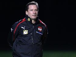 U21-Coach Werner Gregoritsch darf sich über die Playoff-Teilnahme freuen
