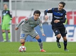 Hoffenheims Jin-Su Kim (l.) sagt Länderspielreise ab