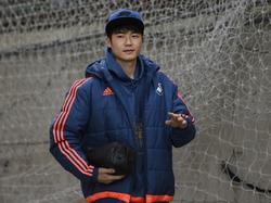 Sung-yueng Ki meldt zich in Londen voor de competitiewedstrijd van Swansea City tegen Crystal Palace. (28-12-2015)