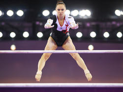 Sophie Scheder gewann 2015 Silber im Kunstturnen in der Mannschaftswertung