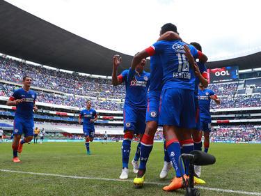 Los jugadores de Cruz Azul celebran el gol de Andrés Rentería. (Foto: Getty)