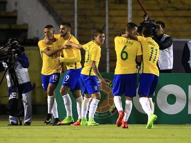 Brasil celebra una de sus dos dianas ante los albicelestes. (Foto: Imago)
