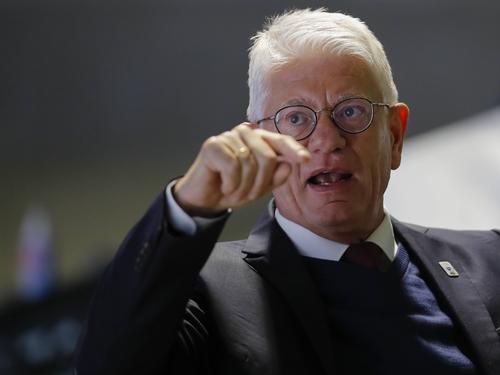 In Sorge um die Eishockey-WM 2021: Franz Reindl, Präsident des Deutschen Eishockey-Bundes