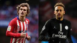 Antoine Griezmann und Neymar wollen zum FC Barcelona wechseln