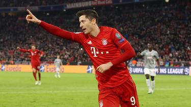 Robert Lewandowski vom FC Bayern wird von der internationalen Presse gelobt