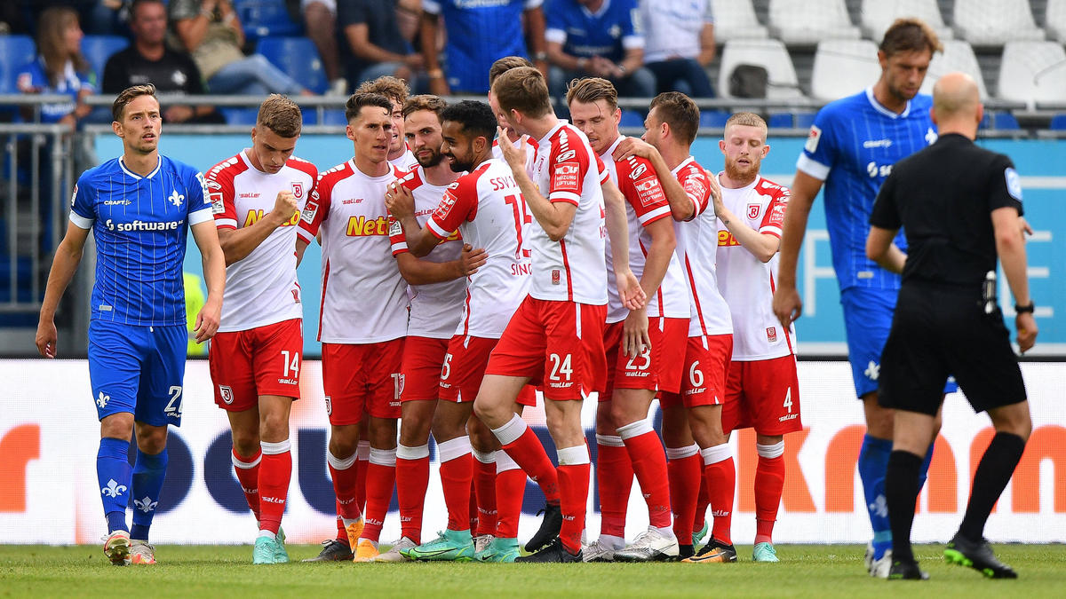 Jahn Regensburg jubelte gegen Darmstadt 98