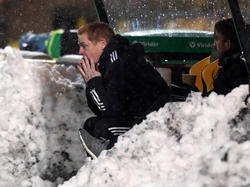 Ob sich Neil Lennon nicht besser gleich in den Schnee gehaut hätte?