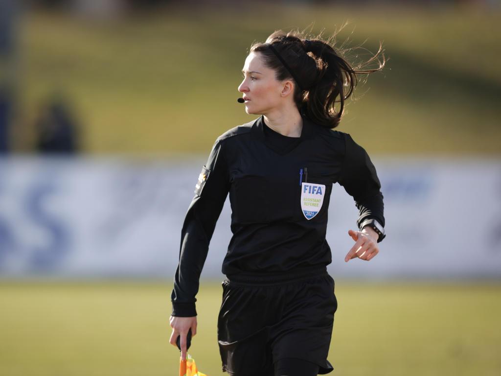 Sara Telek bei FAC gegen Rapid II (im März)