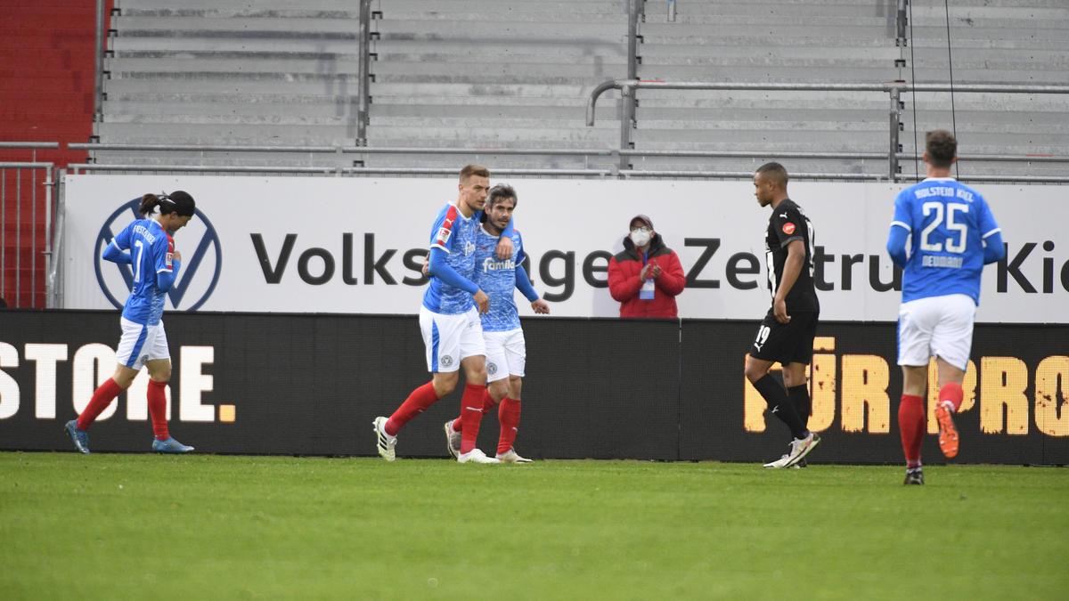Holstein Kiel setzte sich gegen den SV Sandhausen durch