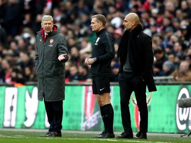 Unterschiedliche Gefühlswelten: Arsène Wenger (l.) und Pep Guardiola