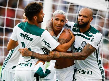 El ex del Levante Deyverson fue decidido para el Palmeiras. (Foto: Getty)