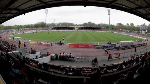 Das Stadion Niederrhein wurde verwüstet