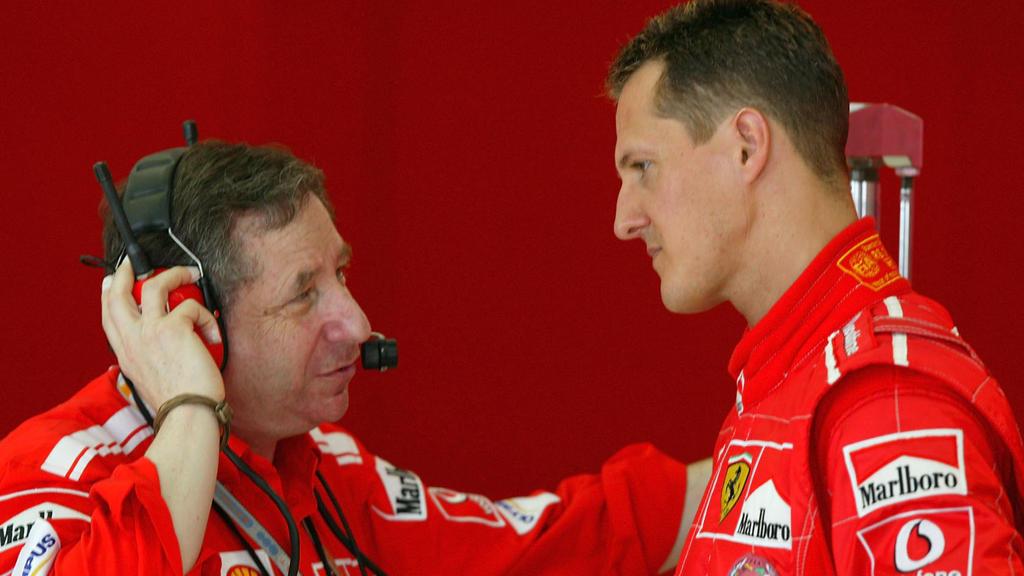 Alte Weggefährten aus der Formel 1: Michael Schumacher (r.) und Jean Todt