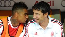 Kevin-Prince Boateng (l.) und Mark van Bommel (r.) spielten einst zusammen in Mailand