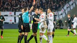 Kostic wurde nach seiner Roten Karte für vier Pokalspiele gesperrt