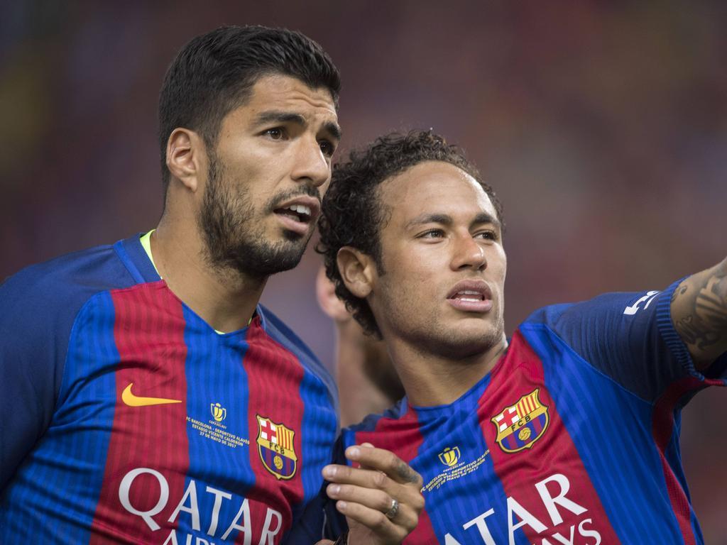 Suárez y Neymar durante su etapa en el Barça.