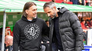 Kennen und schätzen sich: Martin Schmidt (l.) und Marco Rose