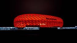 Die Spielstätte des FC Bayern wird am Donnerstag lila erstrahlen