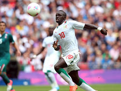 Sadio Mané im Teamdress von Senegal bei den Olympischen Spielen 2012 im Viertelfinale gegen Mexiko