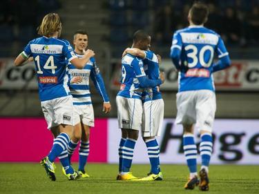 PEC Zwolle mocht vijf keer juichen in het bekerduel tegen JVC Cuijk. (22-01-2014)
