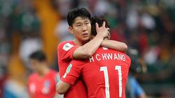 Südkorea-Star Son tröstet Hwang bei der WM in Russland