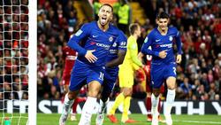 Hazard marcó el gol decisivo en Anfield. (Foto: Getty)