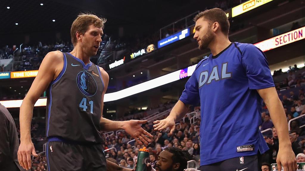 Nowitzki (l.) und Kleber (r.) bei Dallas
