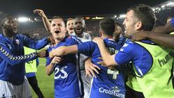 El Estrasburgo celebra la tercera Coupe de la Ligue de su historia. (Foto: @flash_foot1)