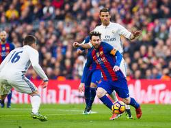 Lionel Messi hat die Nase vor Cristiano Ronaldo