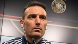 Lionel Scaloni en la rueda de prensa en Dortmund.
