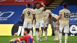 Manchester United setzte sich gegen Crystal Palace durch