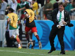Miguel Herrera war auch gegen die Niederlande mal wieder voll dabei